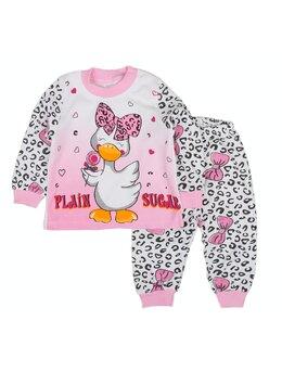 Pijama ratusca cu fundita model roz