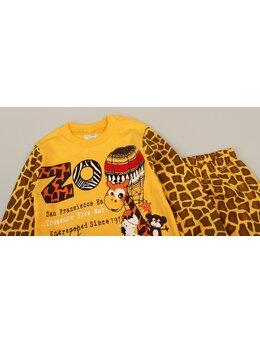 Pijama ZOO girafa galben