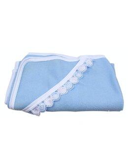Pled bebe polar albastru