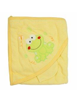 Prosop baie galben cu broscuta