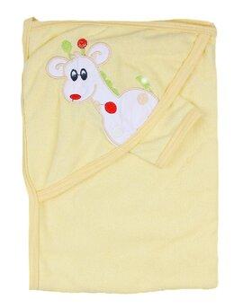 Prosop baie galben cu girafa