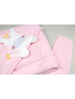 Prosop baie zebra baby roz