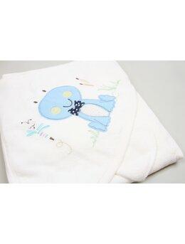 Prosop bebelusi alb broscuta bleu