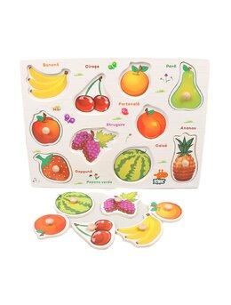 Puzzle din lemn cu fructe