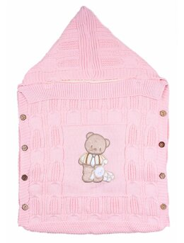 Sac de dormit exterior roz model ursulet