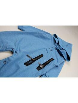 Salopeta fermoare aplicate model albastru
