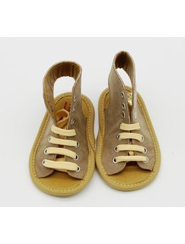 Sandale bej cu siret
