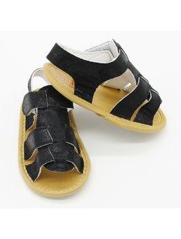 Sandale lejere fetita negru cu sclipici