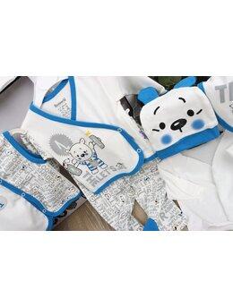 Set 10 piese baby ursulet albastru