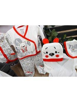 Set 10 piese baby ursulet rosu