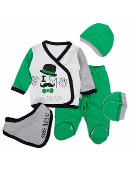 Set 5 piese little man verde