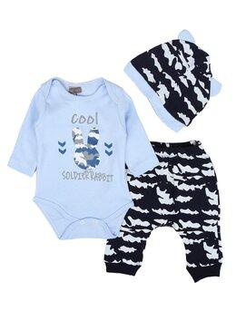 Set baby rabbit bleu