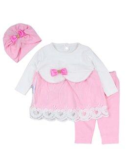 Set bebelica cu rochita roz