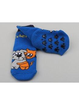 Sosete groase albastru pisica-caine