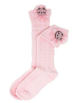 Sosetele inalte fetite pisicuta roz