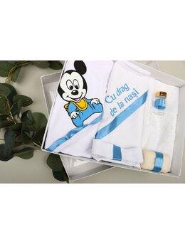 Trusou botez 6 piese Mickey bleu 1