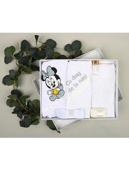 Trusou botez 6 piese Mickey-Minnie gri 1