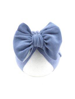 Turban catifelat albastru