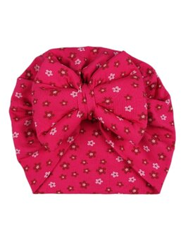Turban cciclam cu floricele model 53