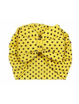 Turban galben cu stelute model 104