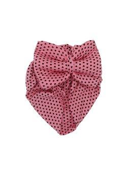 Turban roz cu inimioare model 68