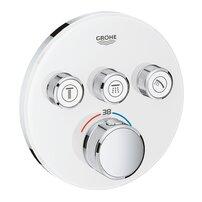 Baterie alba dus Grohe Grohtherm SmartControl termostatica cu 3 iesiri