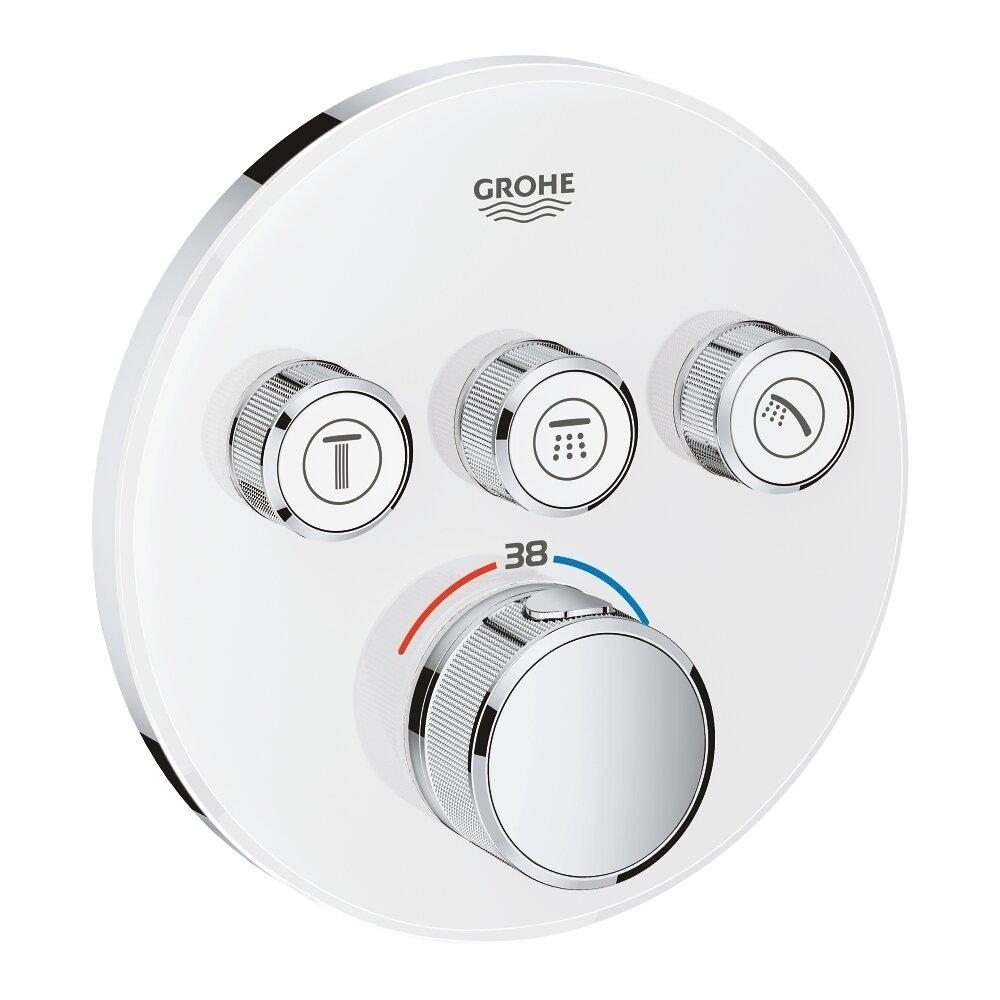 Baterie alba dus Grohe Grohtherm SmartControl termostatica cu 3 iesiri poza