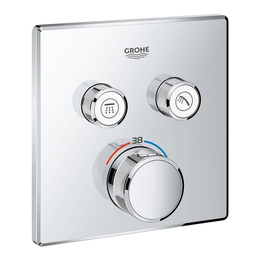 Baterie dus Grohe Grohtherm SmartControl termostatica patrata poza