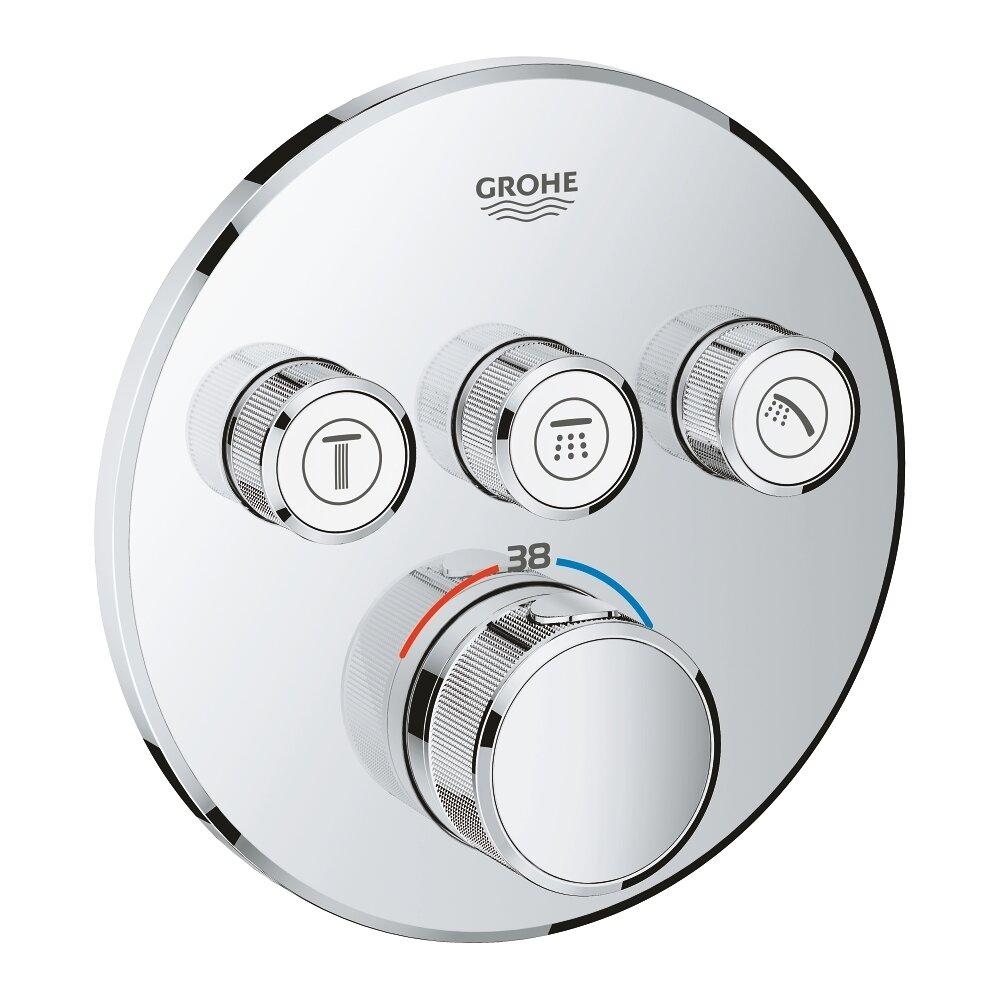 Baterie dus Grohe Grohtherm SmartControl termostatica cu 3 iesiri poza