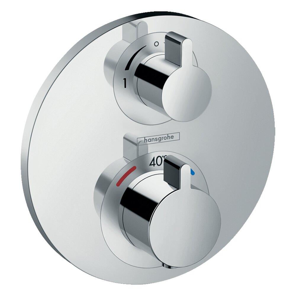 Baterie dus termostatata Hansgrohe Ecostat S cu montaj incastrat, doua functii imagine neakaisa.ro