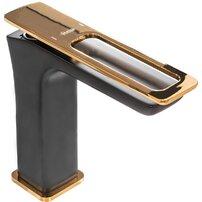Baterie pentru lavoar Rea Soho negru mat auriu