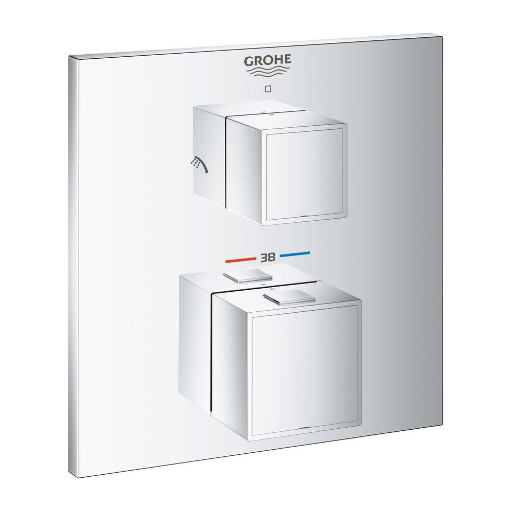 Baterie termostatata Grohtherm Cube cu doua iesiri si montare incastrata imagine