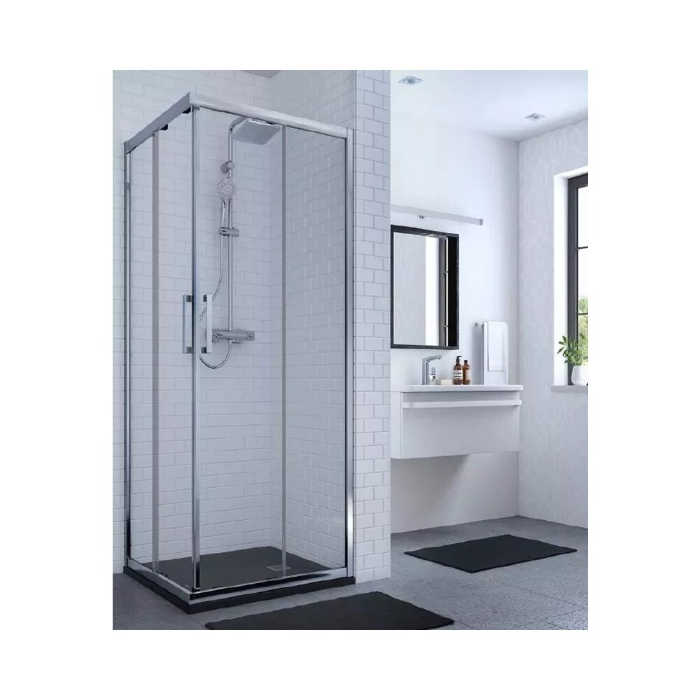 Cabina de dus Ideal Standard Connect 2 patrata 80x80 cm profil alb imagine