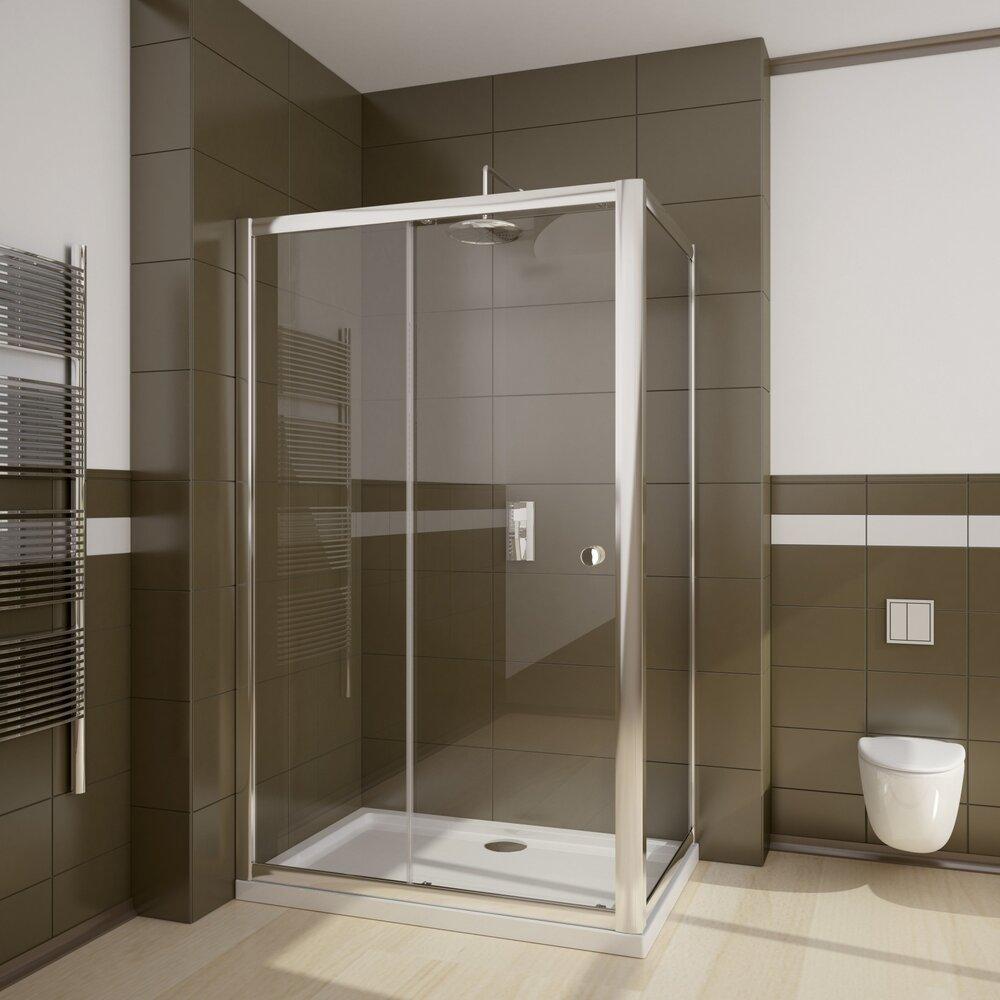 Set cabina de dus Radaway Premium dreptunghiulara 120x80 cu cadita si sifon imagine neakaisa.ro