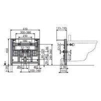 Cadru bideu cu inaltime de instalare 0,45m Alcaplast A105/450