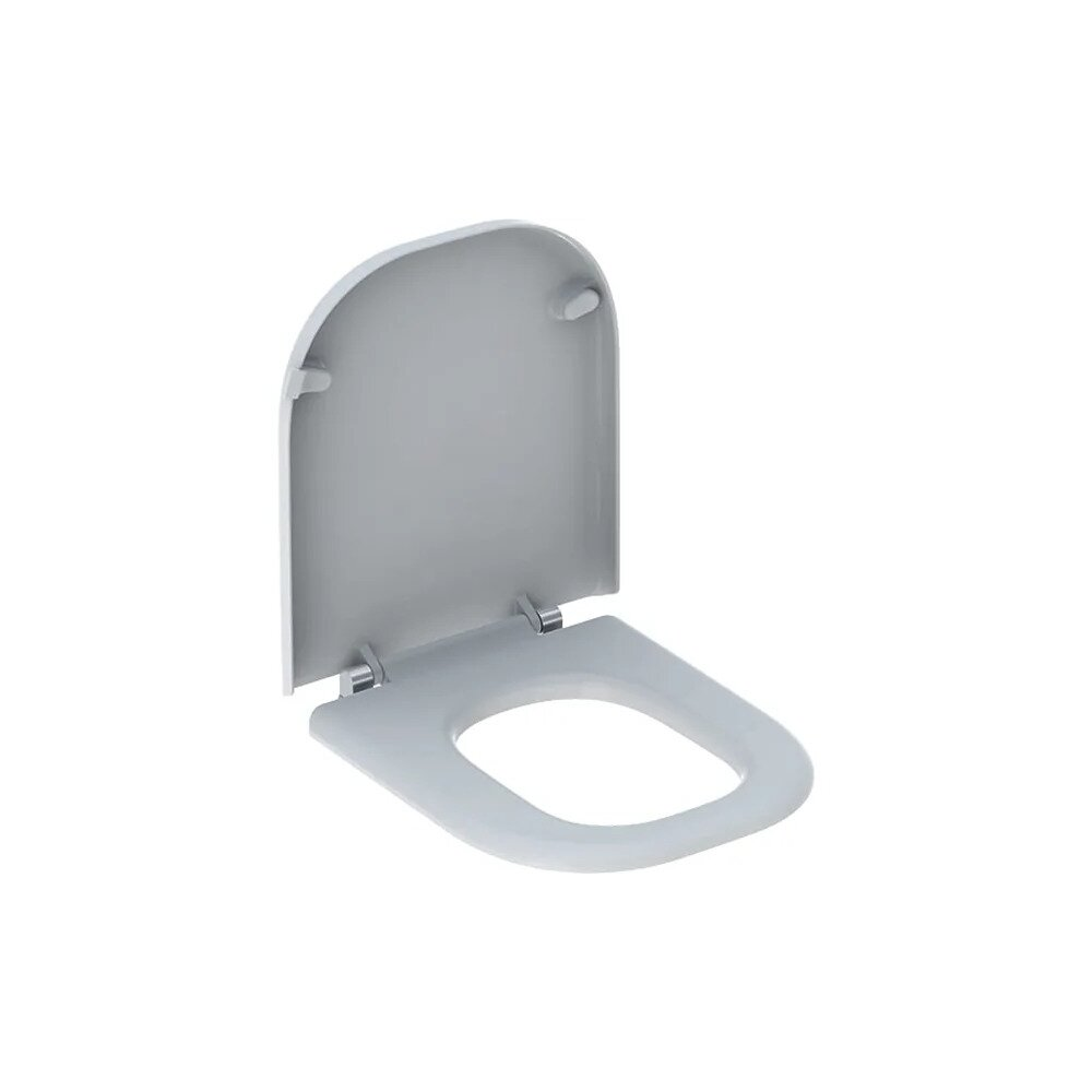 Capac wc Geberit Selnova Comfort Square fixare de jos poza