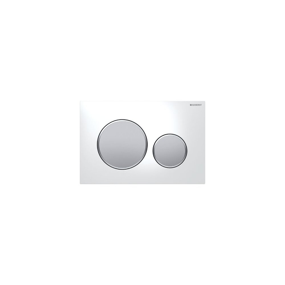 Clapeta de actionare Geberit Sigma 20 alb crom mat imagine neakaisa.ro