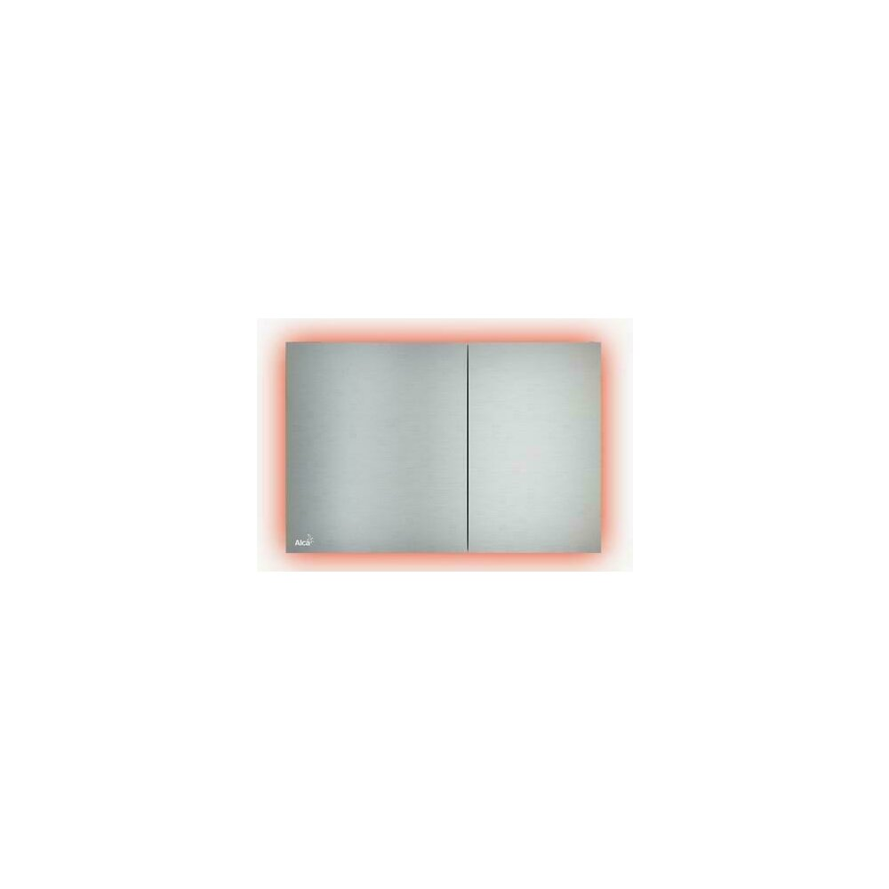 Clapeta de actionare Alcaplast Air Light AEZ112 cu iluminare verde inox mat imagine