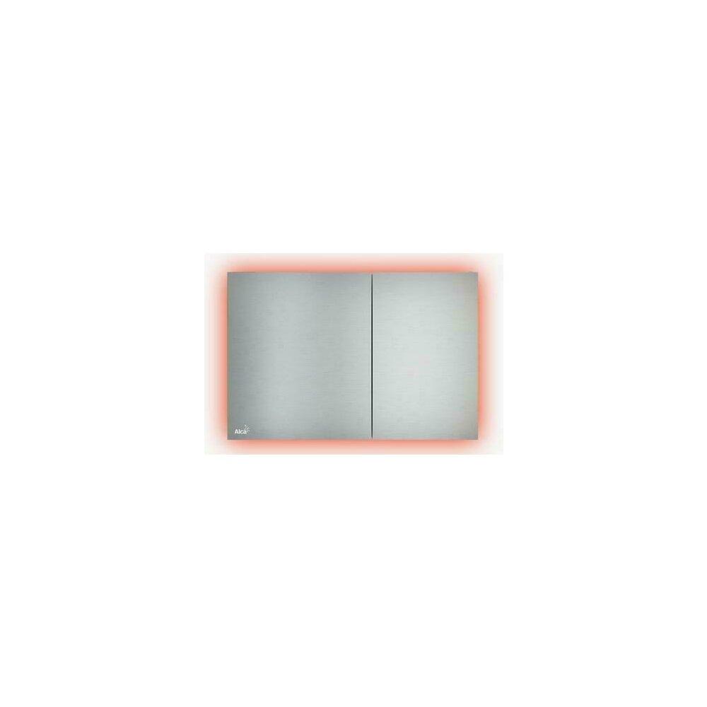 Clapeta de actionare Alcaplast AIR LIGHT-AEZ114 cu iluminare/metal-mat (Rainbow) imagine
