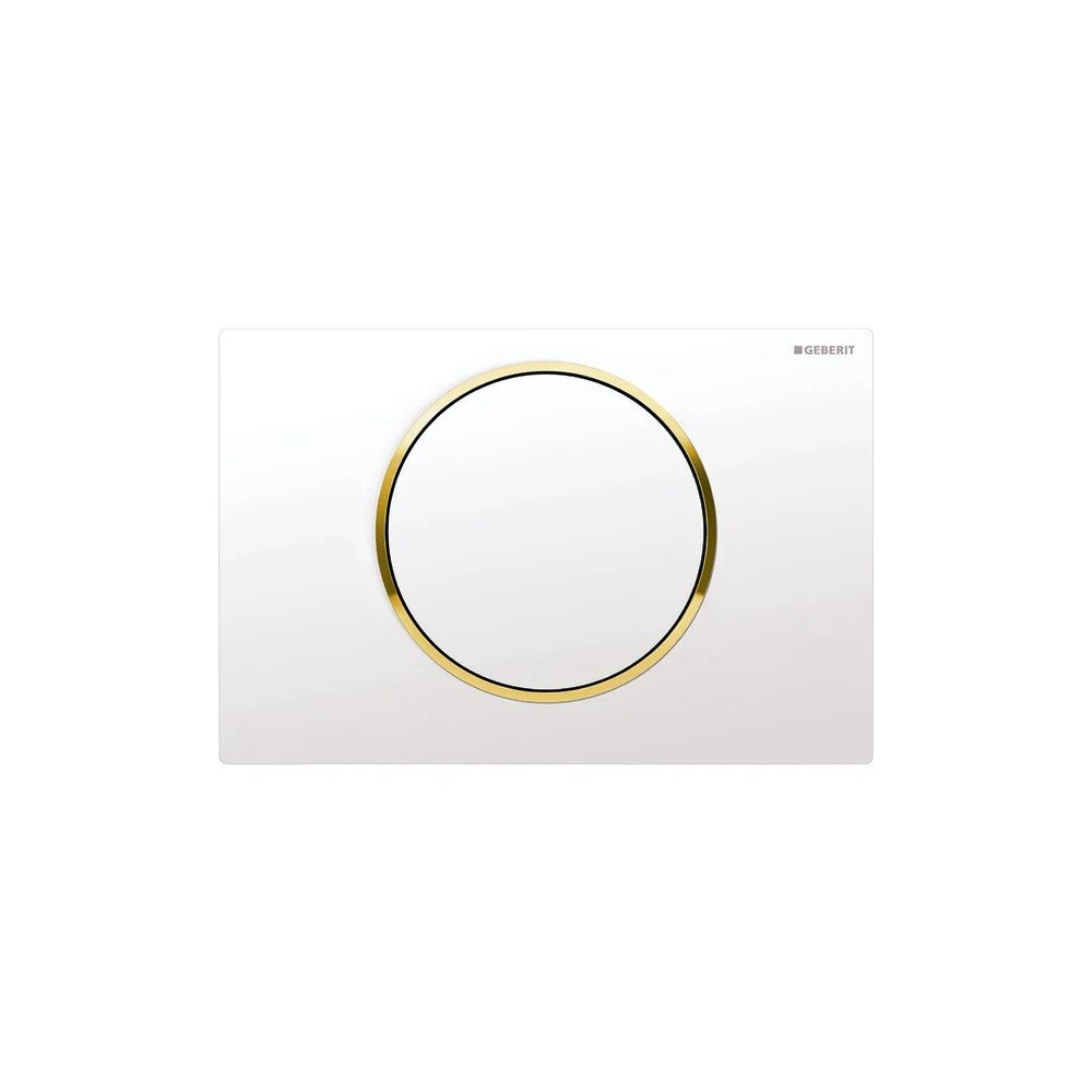 Clapeta de actionare Geberit Sigma 10 alb/auriu/alb imagine