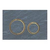 Clapeta de actionare Geberit Sigma 21 ardezie mustang cu inel auriu