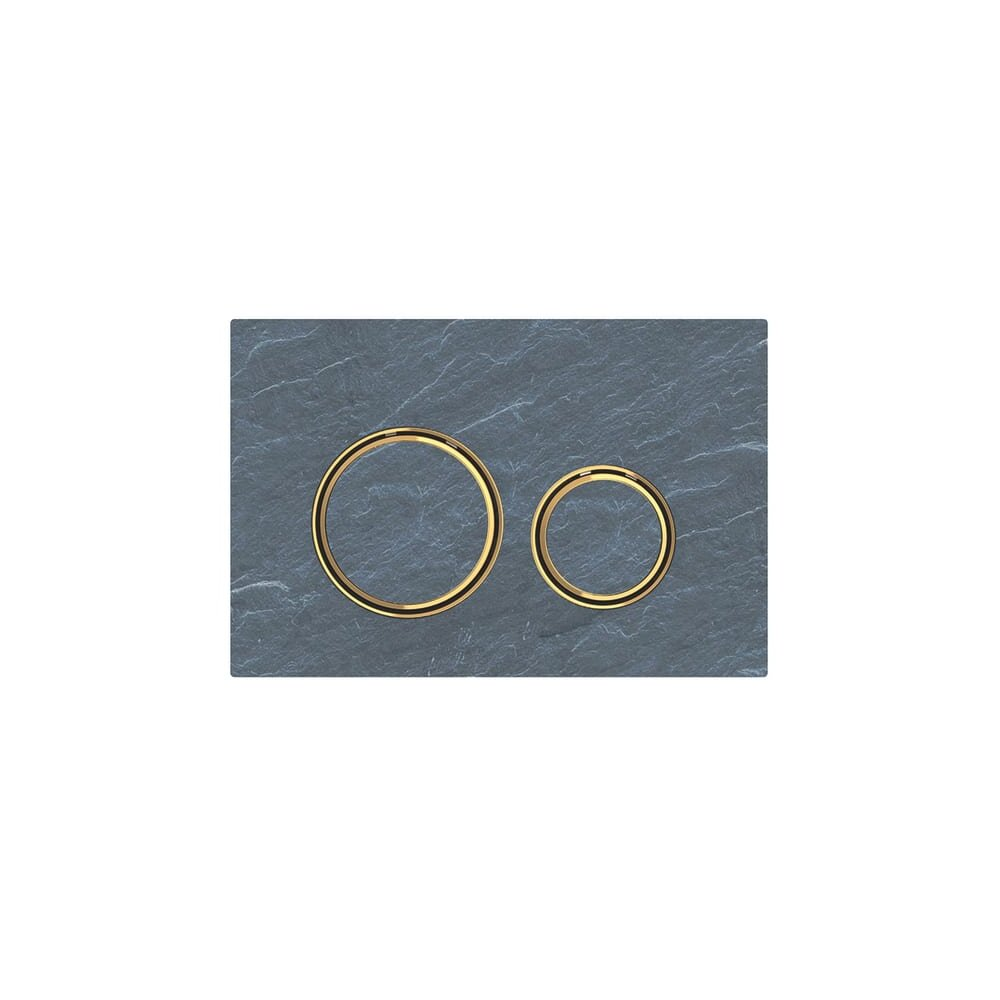 Clapeta de actionare Geberit Sigma 21 ardezie mustang cu inel auriu imagine neakaisa.ro