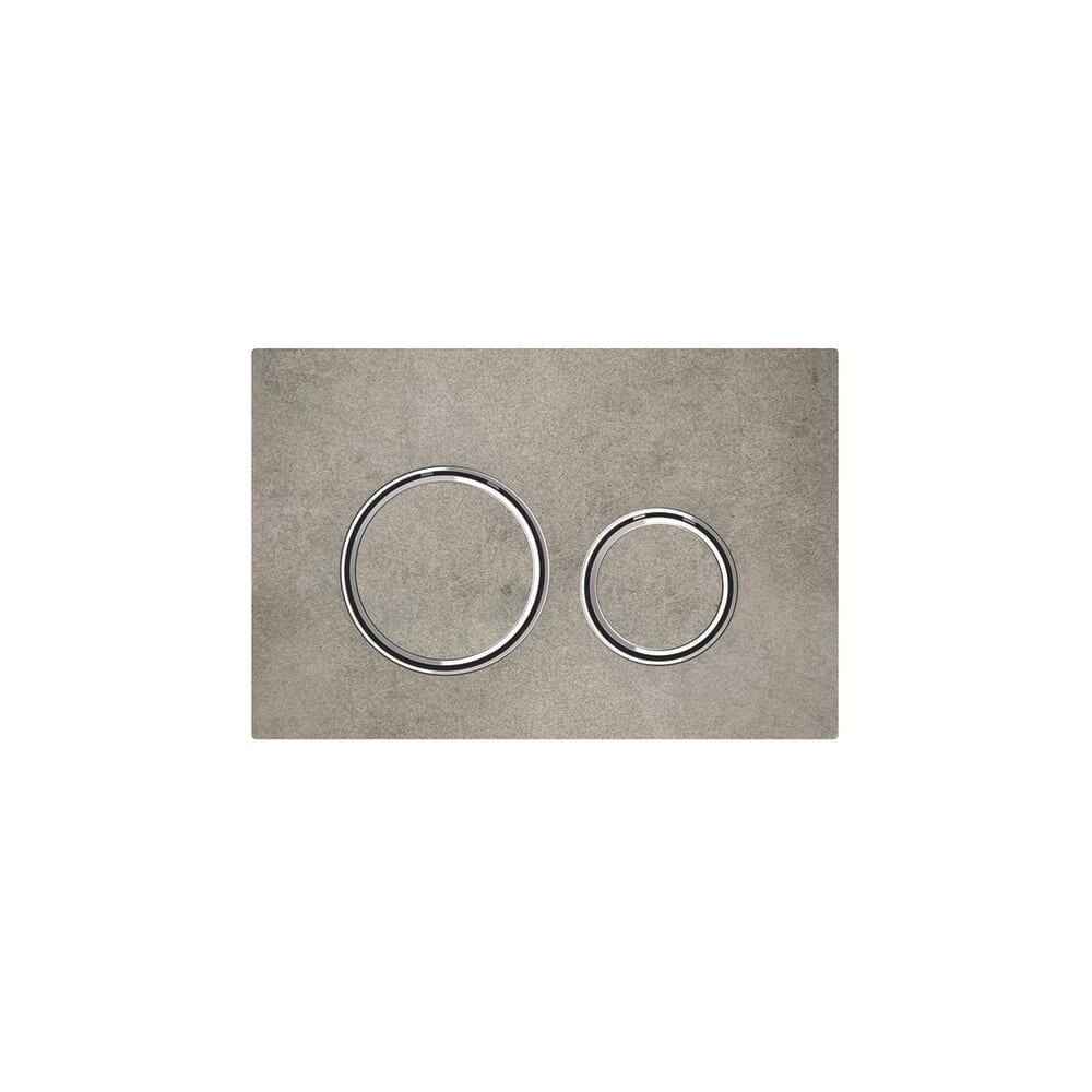 Clapeta de actionare Geberit Sigma 21 aspect beton/inel crom imagine