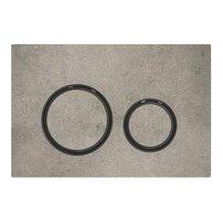 Clapeta de actionare Geberit Sigma 21 aspect beton/inel negru