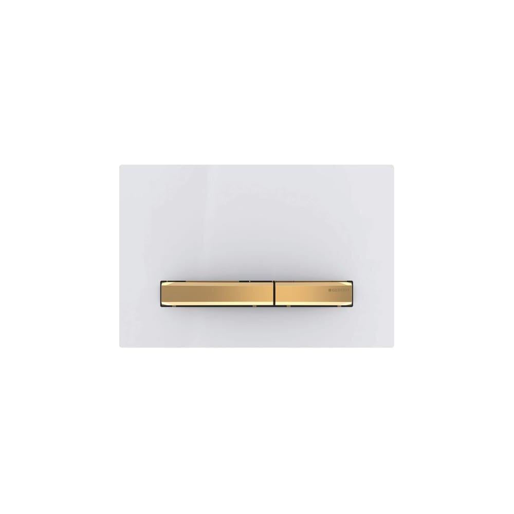 Clapeta de actionare Geberit Sigma 50 alb/butoane aurii