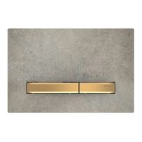 Clapeta de actionare Geberit Sigma 50 aspect beton/butoane aurii