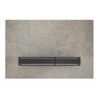 Clapeta de actionare Geberit Sigma 50 aspect beton/butoane negru mat