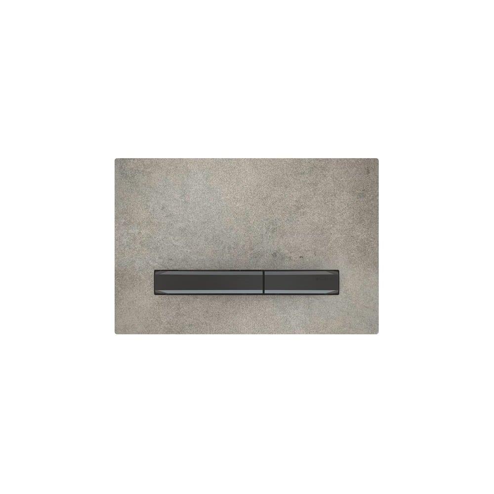Clapeta de actionare Geberit Sigma 50 aspect beton/butoane negru mat imagine