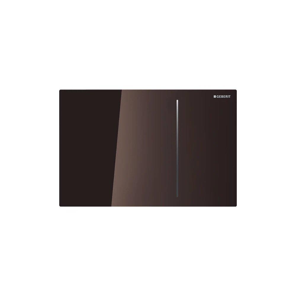 Clapeta de actionare Geberit Sigma 70 pentru rezervor 12 cm, sticla maro lucios cu actionare hidraulica imagine neakaisa.ro