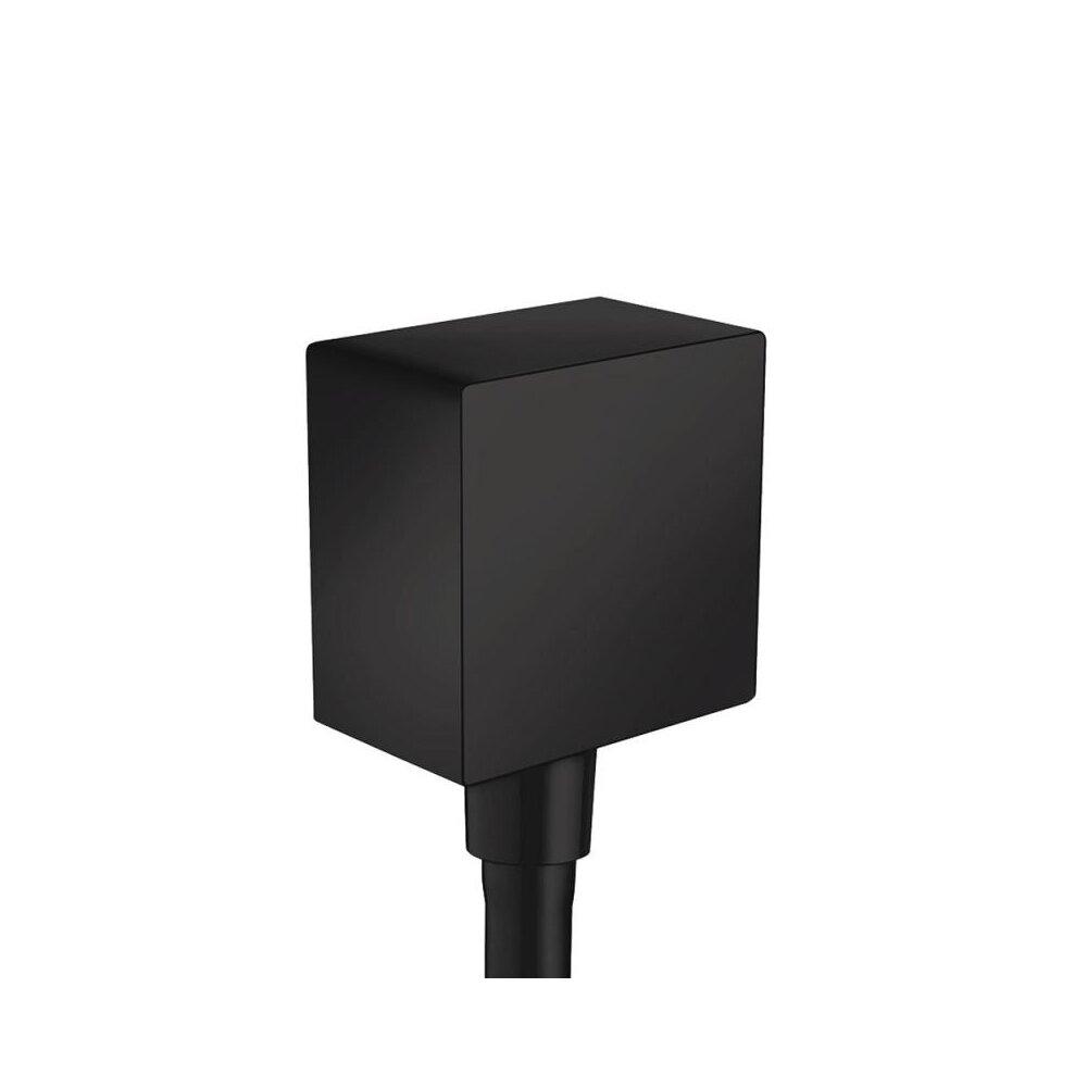 Conector dus Hansgrohe FixFit Square negru mat imagine